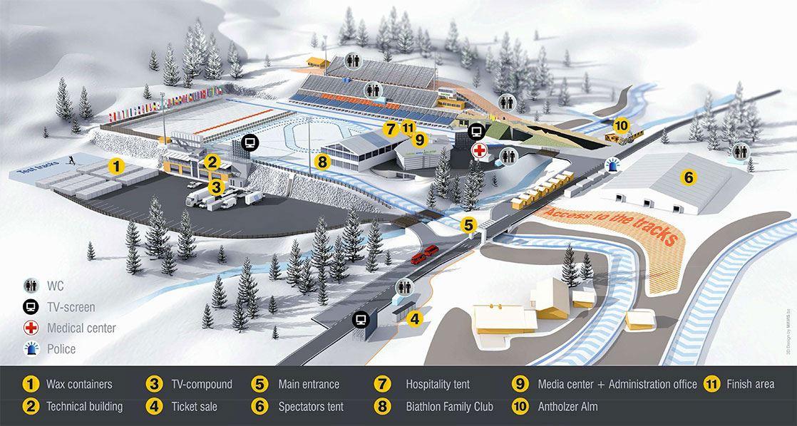 Südtirol Arena Antholz Ibu Biathlon Weltcup 2019